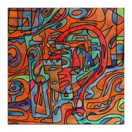 """Холст 30x30 """"QXX`A0.,H33"""" - арт, узор, абстракция, фигуры, текстура"""