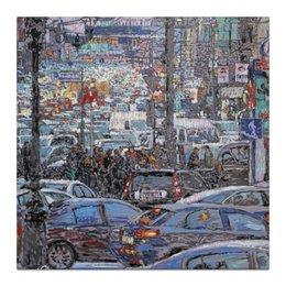 """Холст 30x30 """"Охотный ряд"""" - арт, москва, город, живопись"""