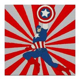 "Холст 30x30 ""Captain America"" - comics, америка, комиксы, герои, marvel, america, марвел, hero, капитан америка, captain america"