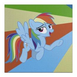 "Холст 30x30 ""Rainbow Dash Color Line"" - rainbow dash, magic, fim, cutiemark, friendship"