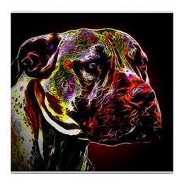 """Холст 30x30 """"Южноафриканский бурбуль."""" - собаки, южноафриканский бурбуль, бурбуль, boerboel"""