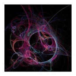 """Холст 30x30 """"Абстрактный дизайн"""" - абстракция, линии, фигуры, фрактал, лучи"""