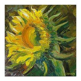 "Холст 30x30 ""Подсолнух"" - цветок, желтый, искусство, живопись, подсолнух"