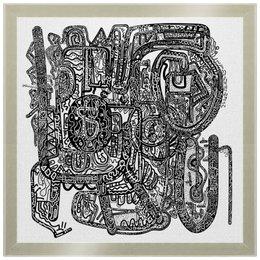 "Холст 30x30 ""Без названия"" - арт, узор, абстракция, фигуры, текстура"