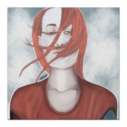 """Холст 30x30 """" 2d портрет девушки """" - девушка, глаза, портрет, тату, рыжая"""