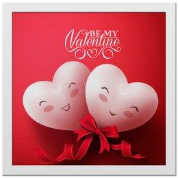 """Холст 30x30 """"Валентинка"""" - сердце, валентинка"""
