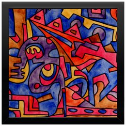 "Холст 30x30 ""cbm`db==[]0`"" - арт, узор, абстракция, фигуры, текстура"