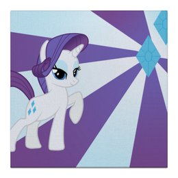 "Холст 30x30 ""Rarity Color Line"" - magic, fim, rarity, cutiemark, friendship"