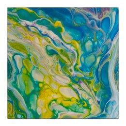 """Холст 30x30 """"Морская абстракция"""" - абстракция, морской, картина для интерьера, интерьерная картина, интерьерная живопись"""