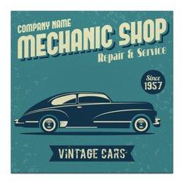 """Холст 30x30 """"Винтажные автомобили"""" - ретро, стильный, винтажный, старинный, классический"""