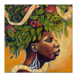 "Холст 30x30 ""Nina Simone"" - музыка, любовь, арт, стиль, рисунок, портрет, певица, jazz, джаз, фан"