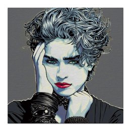 """Холст 30x30 """"Madonna Louise Ciccone"""" - арт, art, стиль, поп, поп-арт, певица, pop-art, madonna, мадонна, madonna louise ciccone"""