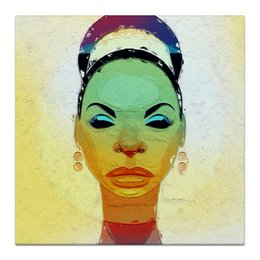 """Холст 30x30 """"Nina Simone"""" - jazz, джаз, фан, попарт, соул, nina simone, нина симон"""