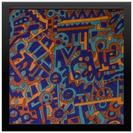 "Холст 30x30 ""y7t6ggjlla11zzz"" - арт, узор, абстракция, фигуры, текстура"