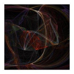 """Холст 30x30 """"Абстрактный дизайн"""" - абстракция, фигуры, фрактал, линии, лучи"""