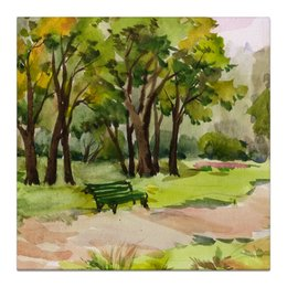 """Холст 30x30 """"Пейзаж. Елагин остров."""" - пейзаж, парк, санкт-петербург, ландшафт, елагин остров"""