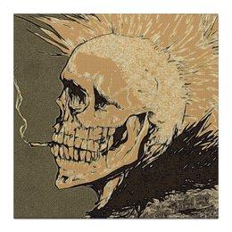 """Холст 30x30 """"Punks not Dead"""" - skull, череп, черепа, punk, панк, панки, ирокез, сигарета, punk is not dead"""