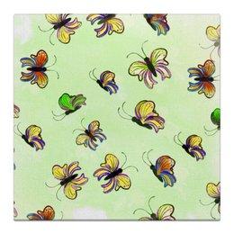 """Холст 30x30 """"Бабочки"""" - бабочка, рисунок, акварель"""