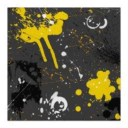 """Холст 30x30 """"Абстракция асфальт"""" - абстракция, абстрактный, жидкий акрил"""