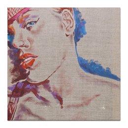 "Холст 30x30 ""Пинк (певица)"" - рисунок, портрет, пирсинг, пинк, алиша бет мур"
