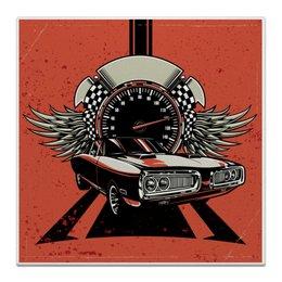 "Холст 30x30 ""Fast and Fury"" - крылья, авто, дорога, скорость, спидометр"