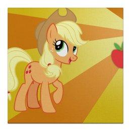 "Холст 30x30 ""AppleJack Color Line"" - magic, fim, applejack, cutiemark, friendship"