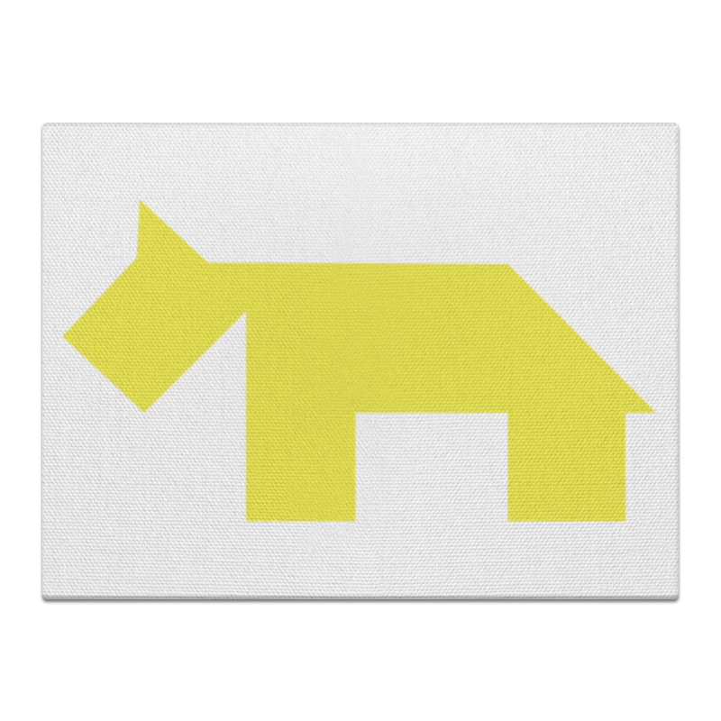 Холст 30x40 Printio Жёлтая собака танграм холст 40x55 printio жёлтая утка танграм