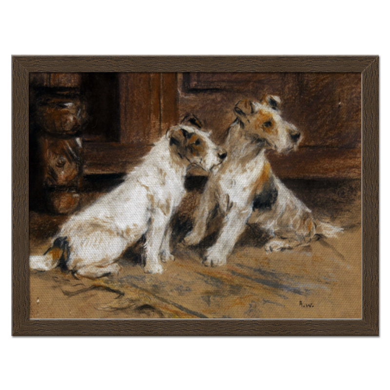 все цены на Холст 30x40 Printio 2018 год желтой собаки