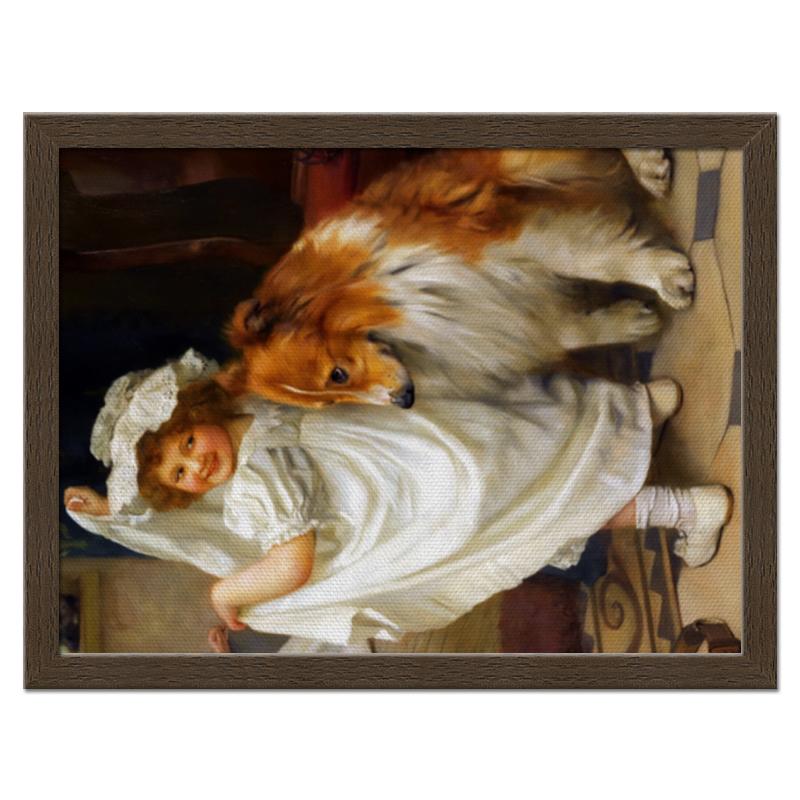 Холст 30x40 Printio Девочка с собакой цена