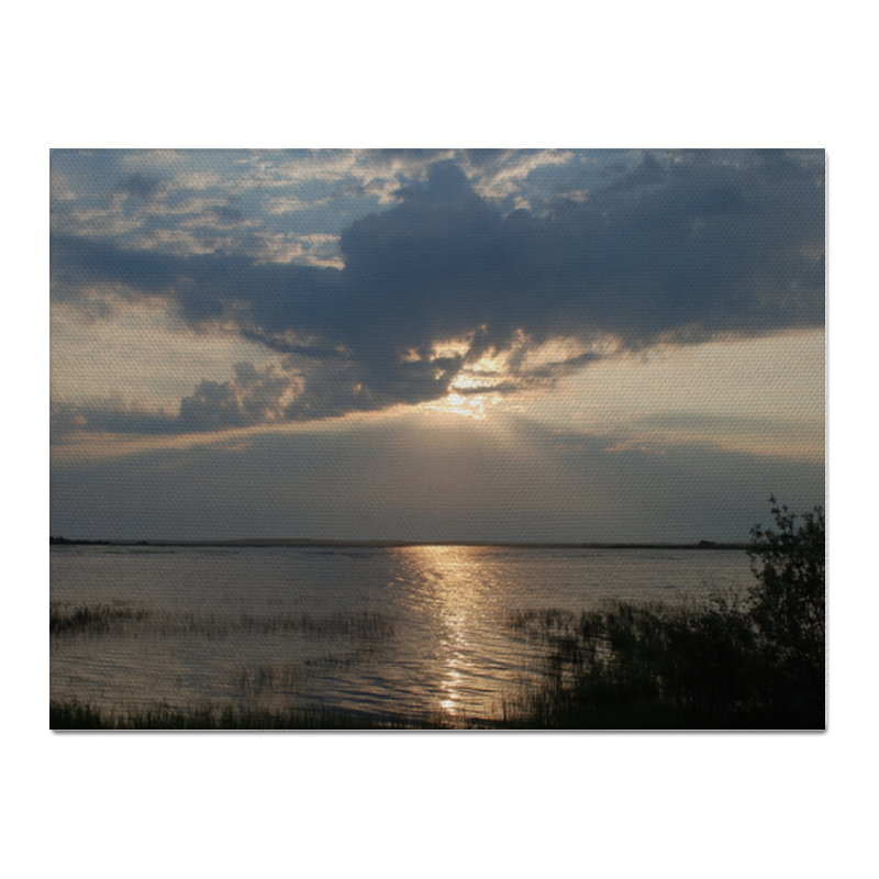 Холст 30x40 Printio Озеро репродукция ржавый рассвет 500х700мм холст