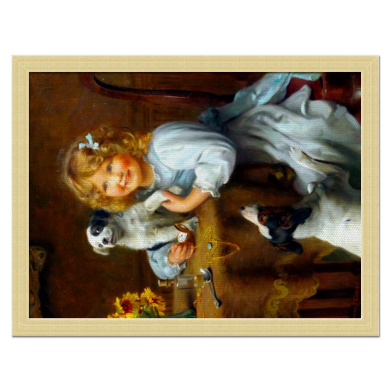 Холст 30x40 Printio Девочка с собакой и щенком vs 303 статуэтка девочка с щенком 1250327