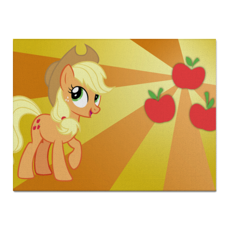 Холст 30x40 Printio Applejack color line холст 30x40 printio семейная лодка