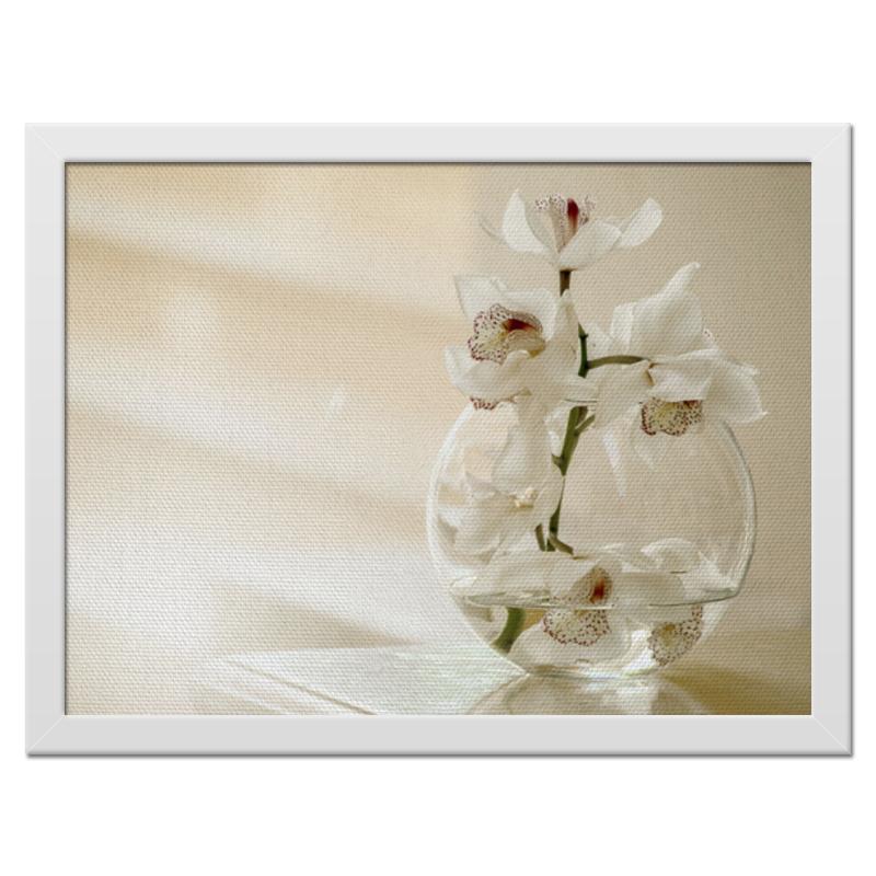 Холст 30x40 Printio Нежные орхидеи цветной тм орхидеи