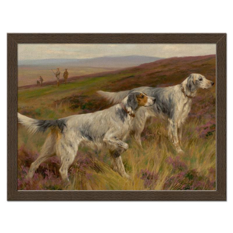 Холст 30x40 Printio Охота с собаками репродукция ржавый рассвет 500х700мм холст
