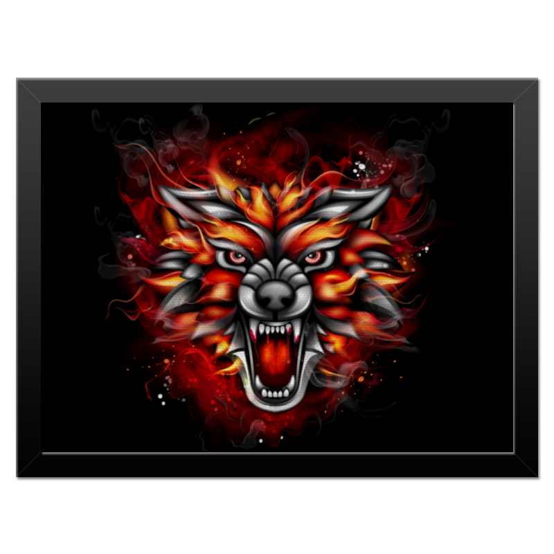 Холст 30x40 Printio Wolf & fire 3d fire wolf head style shorts for men black size xl