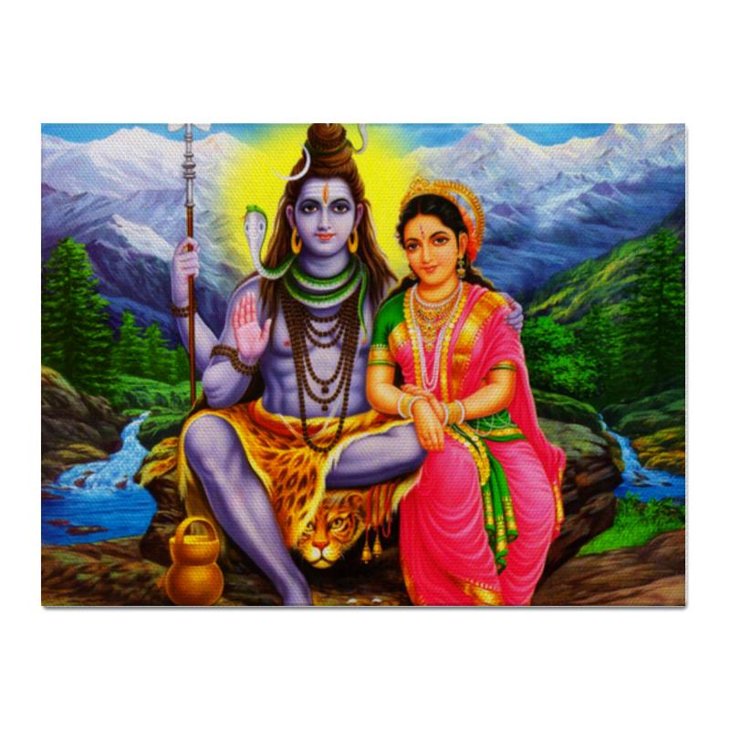 Холст 30x40 Printio Шива и парвати магнит шива шакти ардханарешвара 10х7