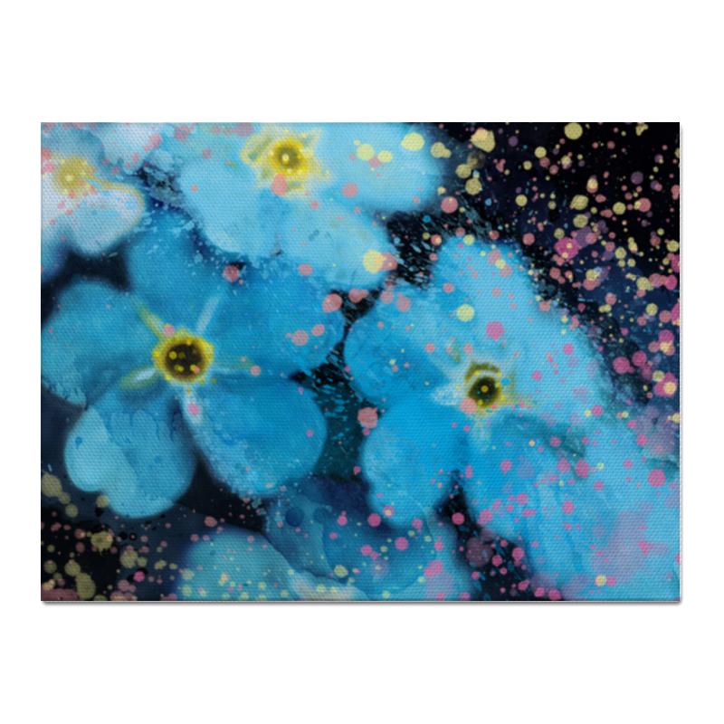 Холст 30x40 Printio Голубые цветы холст 30x40 printio фотоаппарат
