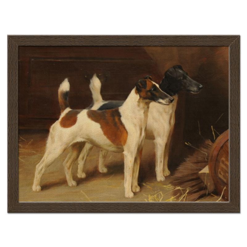 Холст 30x40 Printio 2018 год желтой собаки