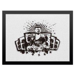 """Холст 30x40 """"Будда (Акустика)"""" - музыка, волны, будда, буддизм, акустика"""
