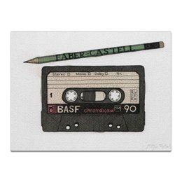 "Холст 30x40 ""Кассета"" - кассета, cassette, компакт-кассета, аудиокассета"