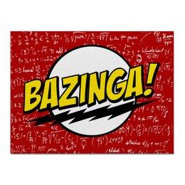 """Холст 30x40 """"Bazinga!"""" - the big bang theory, bazinga, теория большого взрыва, шелдон купер, sheldon"""