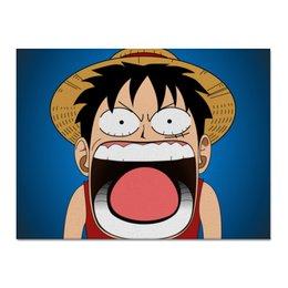 "Холст 30x40 ""Луффи - Чё??!!"" - аниме, шляпа, one piece, луффи, монки ди луффи"