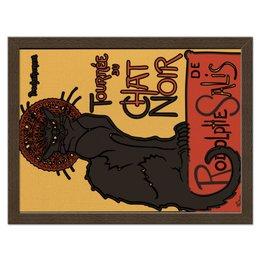 "Холст 30x40 ""Похождения чёрнго кота"" - кот, ретро, рисунок, винтаж, постер"
