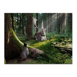 """Холст 30x40 """"Природная Гармония"""" - дети, лес, интерьер, природа"""