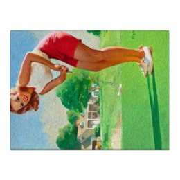 "Холст 30x40 ""Lovely retro"" - девушка, стиль, ретро, винтаж, пинап, retro, pin-up, гольф, golf"