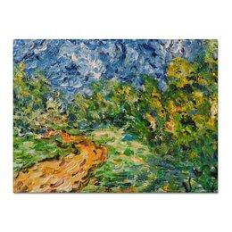 """Холст 30x40 """"Смятение"""" - лето, summer, дорога, green, лес, красота, деревня, forest"""