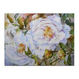 """Холст 30x40 """"Белые пионы"""" - цветы, пионы, букет, цветочная живопись, белые пионы"""