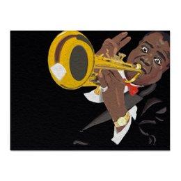"""Холст 30x40 """"Louis Armstrong"""" - музыка, jazz, джаз, louis armstrong, луи армстронг, саксафон"""