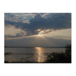"Холст 30x40 ""Озеро"" - &озеро, &восход, &интерьер"