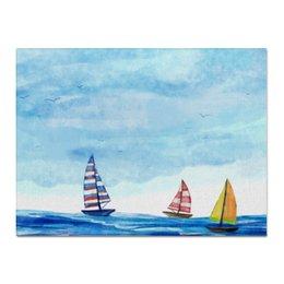 """Холст 30x40 """"Парусники"""" - море, пейзаж, корабль, парусник, морской"""